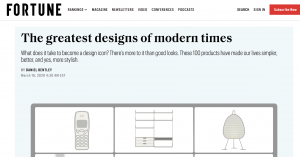 """100 Greatest Designs"" at Fortune magazine"