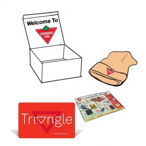 Canadian Tire welcome box for new Canadian residents